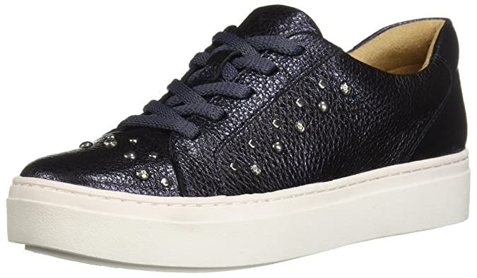 Naturalizer Women's Cairo 3 Sneaker, Blue/Metallic, 7 M US