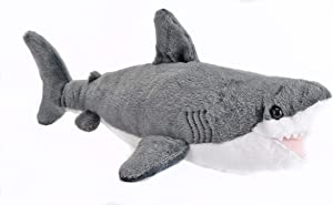 Wild Republic Great White Shark Plush, Stuffed Animal, Plush Toy, Gifts for Kids, Cuddlekins 13 inches