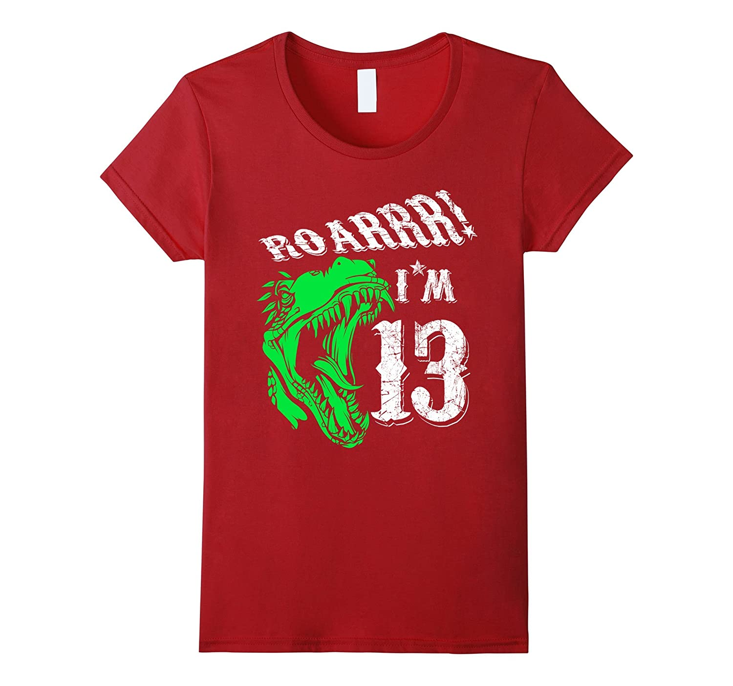 13 years old 13th Birthday T-Shirt – Dinosaur Tee For Boys