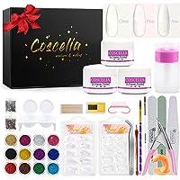 Saint-Acior Manicure Kit Acryl Poeder Nagels Decoratie Nail Art Tips Kunstnagels Glitter Decor Poeder Set