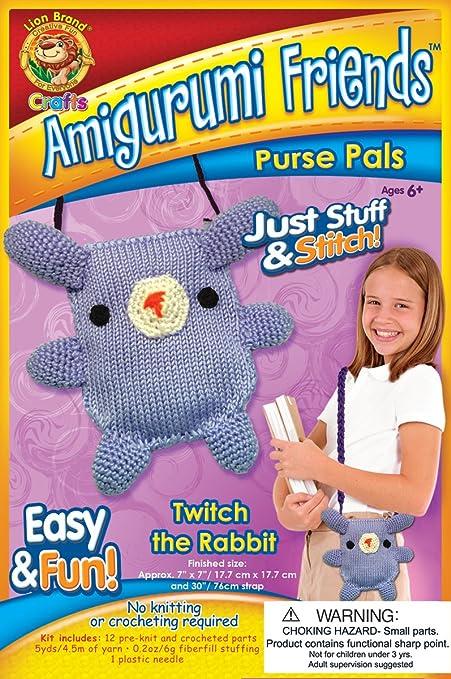 Amazon com: Lion Brand Yarn APP-AM10 Amigurumi Friends Purse Pals
