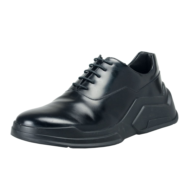 Prada メンズ 革のファッションスニーカーの靴 B07BYX7XYR