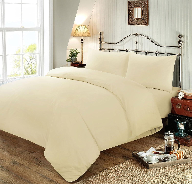 Nimsay Home Housse de couette Teint uni Polycoton double King size doux Red Double lit simple parure de lit avec taie doreiller