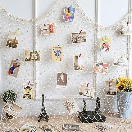 Amazon.com: Gorse Photo Hanging Display Fishnet Wall Decor ...