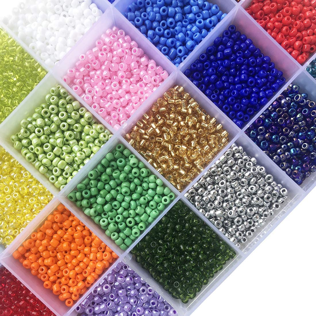35g of Beautiful multicoloured seed beadsbeadscraft beadsseed beadskids craftsewingmulticolouredmini beads