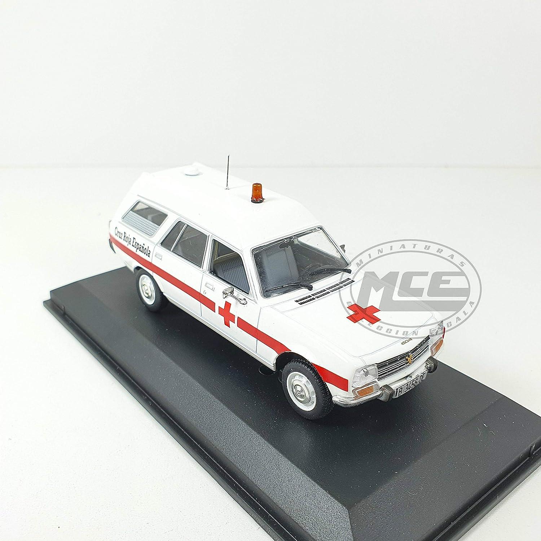 Desconocido 1//43 Peugeot 504 Ambulancia Cruz ROJA ESPA/ÑOLA Base NOREV TRANSFORMACI/ÓN