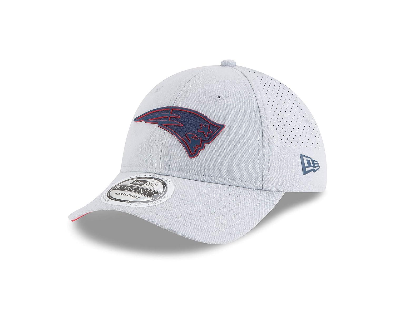 New Era NFL New England Patriots Baseball Hat Cap Training 9Twenty Gray 11766516