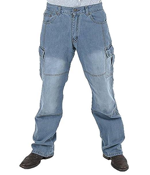 6cd1c00f1b Juicy Trendz Hombre Motocicleta Pantalones Moto Pantalón Mezclilla Jeans  con Protección Aramida  Amazon.es  Ropa y accesorios