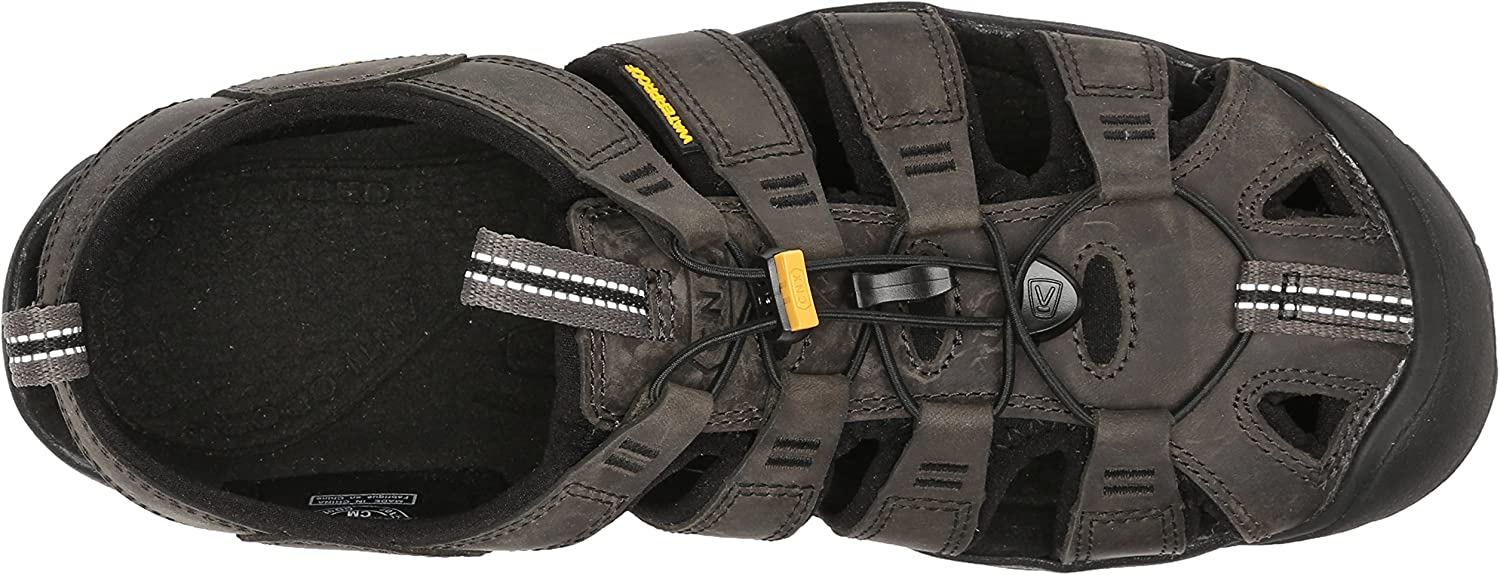 KEEN Mens Clearwater CNX Leather Closed Toe Sandals