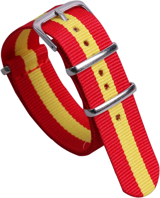 Colorido Estilo de Nylon de la NATO Bandas Pulseras para Relojes de Estilo duraderos reemplazos para Hombres Mujeres