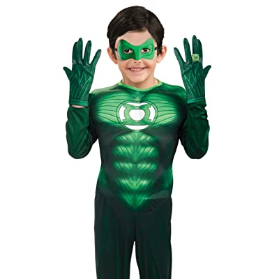 Green Lantern Child's Gloves Costume Accessory: Toys & Games