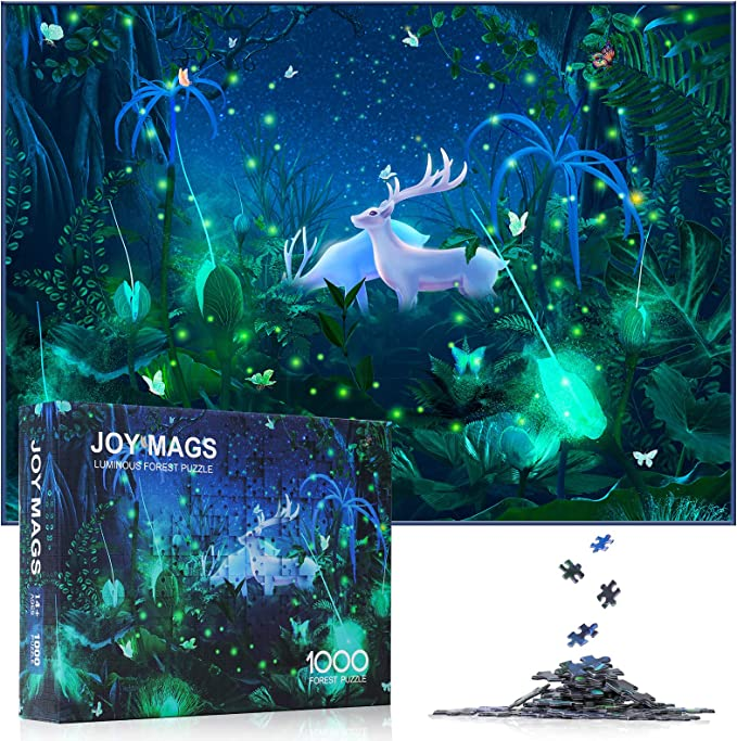 JOY MAGS 1000 Piece Cartoons Duck Paper Jigsaw Puzzle for Kids Adult,Challenging and Family-Friendly Fun Indoor Game Toys