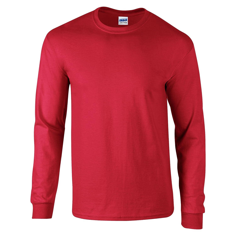 TALLA M. Gildan Ultra Cotton L/Sleeve tee Camiseta para Hombre