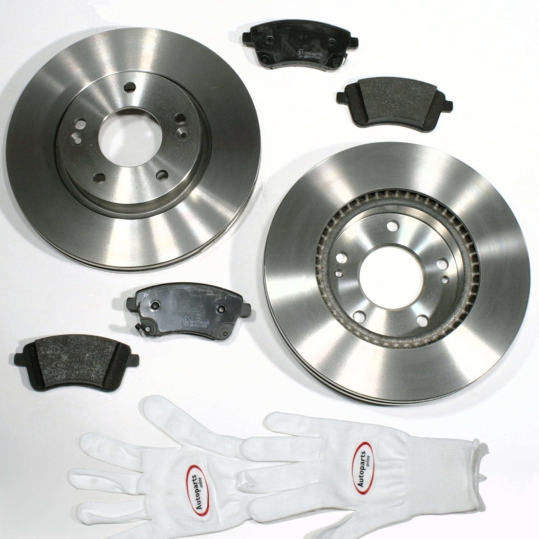 Autoparts-Online Set 60012543 Bremsscheiben 280 mm//Bremsen Bremsbel/äge f/ür vorne//die Vorderachse