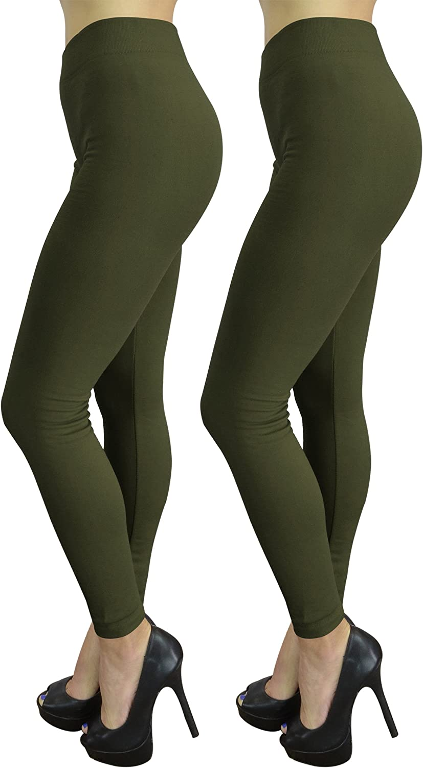 Stretchy Solid Color Yoga Pants by Belle Donne Women/'s Seamless Leggings