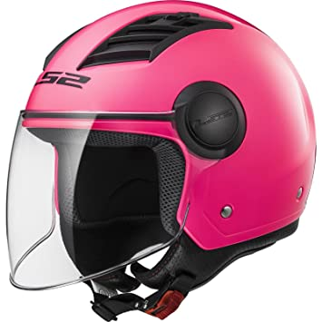 LS2 Casco Moto of562 Airflow, Gloss Pink Long, ...