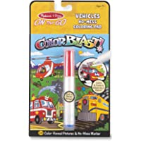 Melissa & Doug 5498 On The Go ColorBlast No-Mess Coloring Pad, Vehciles (24 Color-Reveal Pictures, Invisible Ink Marker)