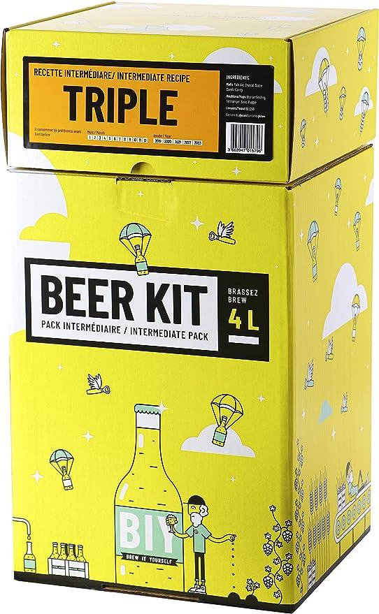 Saveur Cerveza – Kit intermedio para Cerveza Triple – 4 L de Cerveza Tripel Ale – Idea Regalo para el día del Padre 100% Experiencia: Amazon.es: Hogar
