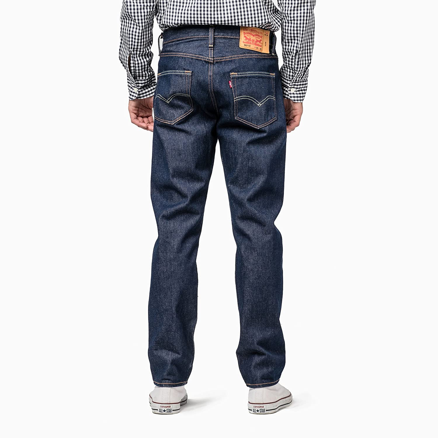 8ba6f1c011a Levi's Men's (501® CT) Regular Fit Jeans (28894-0017_Blue_42): Amazon.in:  Clothing & Accessories
