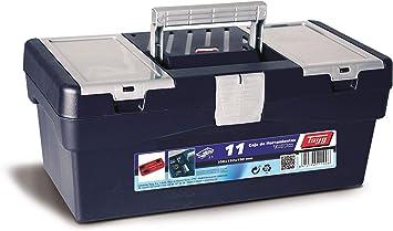 Tayg Caja herramientas plástico n. 11, azul, 356 x 192 x 150 mm: Amazon.es: Bricolaje y herramientas