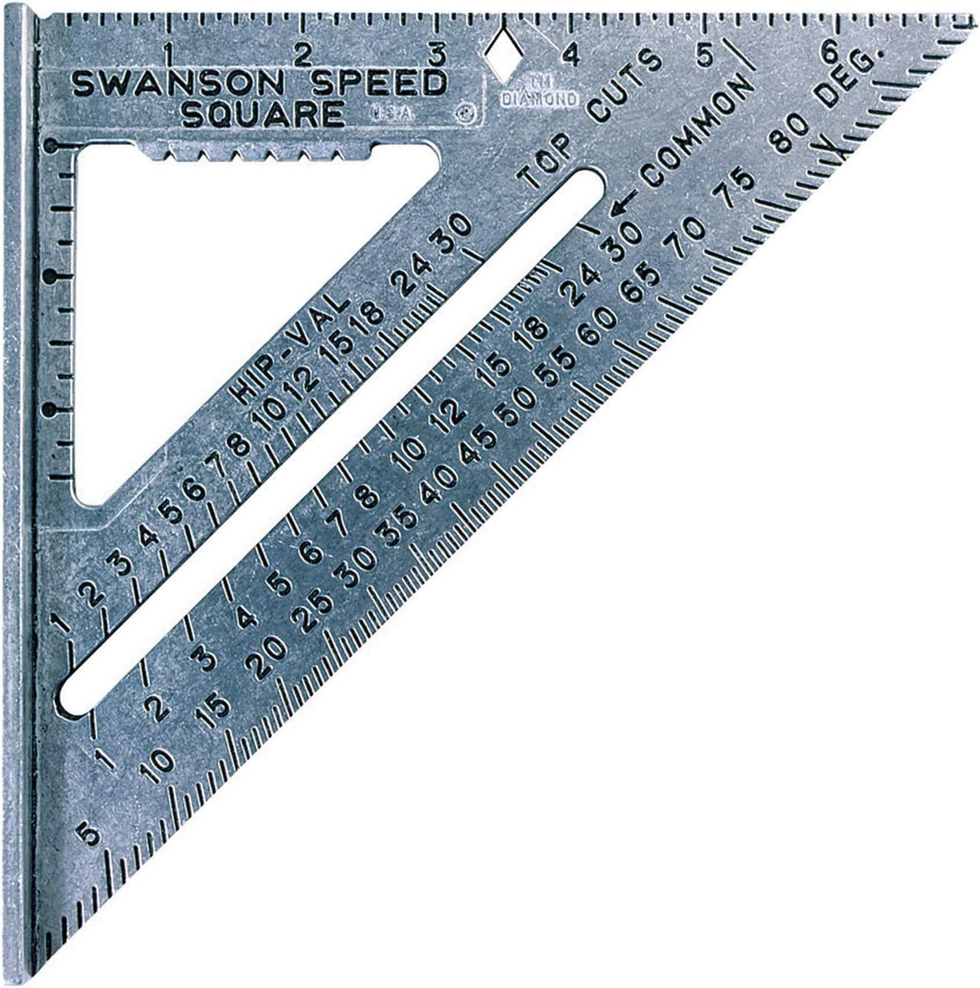 Swanson  7.25 in L x .875 in H Aluminum  Speed Square  Silver
