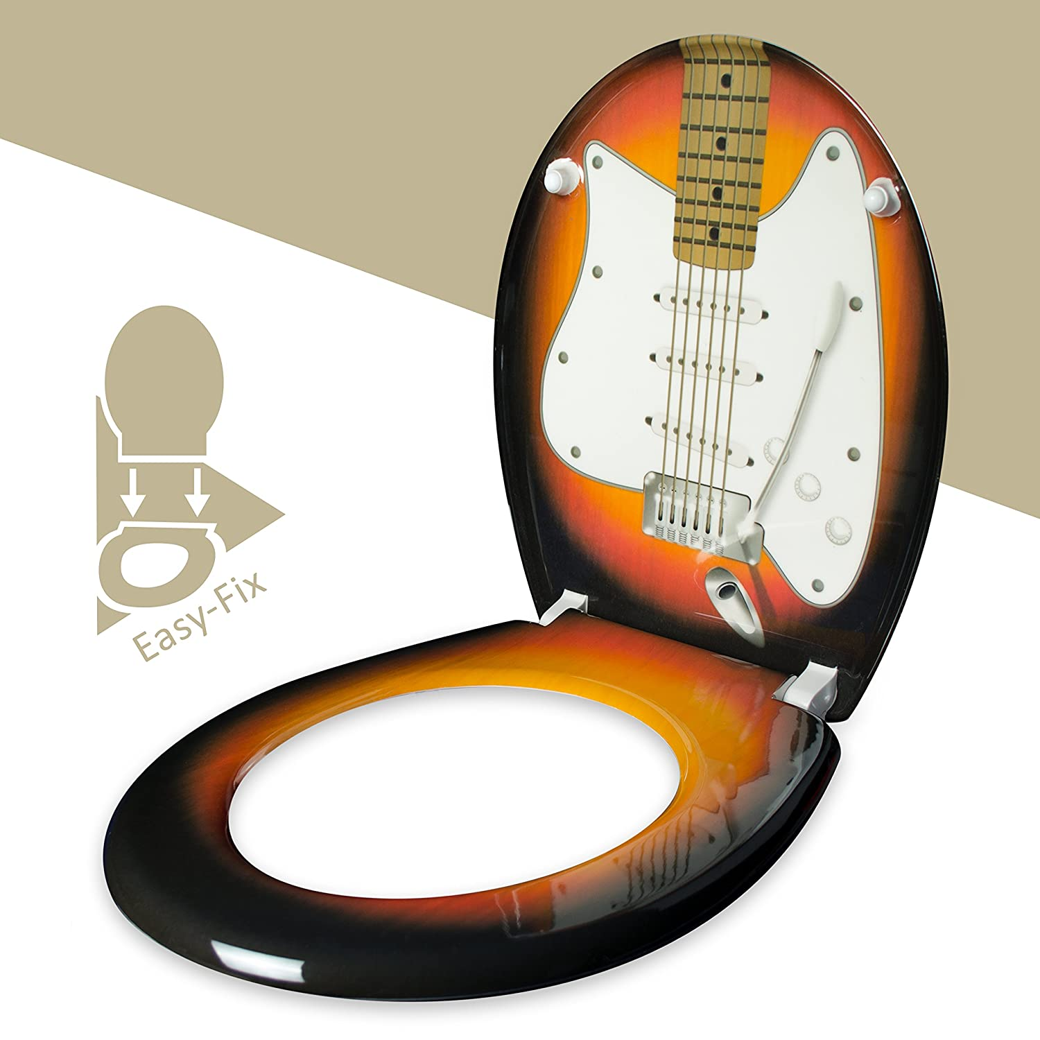 Phenomenal Wc Seat With Slow Close Mechanism Electric Guitar Design Duroplast Toilet Seat With Motif Mounting Kit Grinscard Machost Co Dining Chair Design Ideas Machostcouk