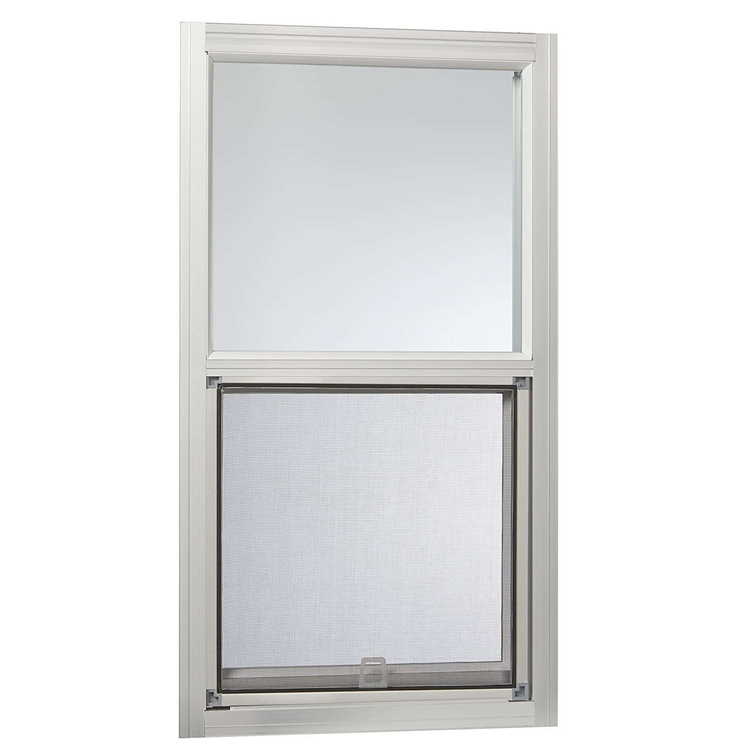 Park Ridge AMHMF1427PR Aluminum Mobile Home Single Hung Window 14 Inch x 27 Inch, Mill Finish Silver