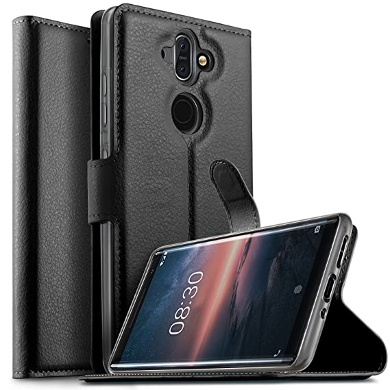 Capable Flip Folio Case Cover For Nokia 8 Cell Phones & Accessories