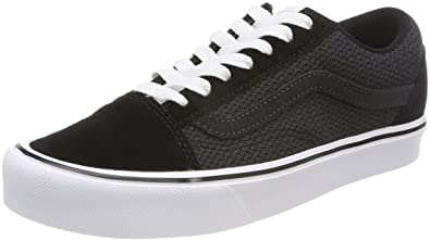 7a3d6966536 Vans Unisex Adults  Old Skool Lite Trainers (Mesh Suede) Black Asphalt
