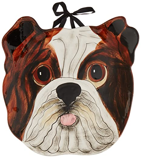 Amazon.com | Pavilion Rescue Me Now English Bulldog Ear Plate ...