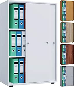 VCM Lona - Armario de oficina con 3 puertas correderas: Amazon.es ...