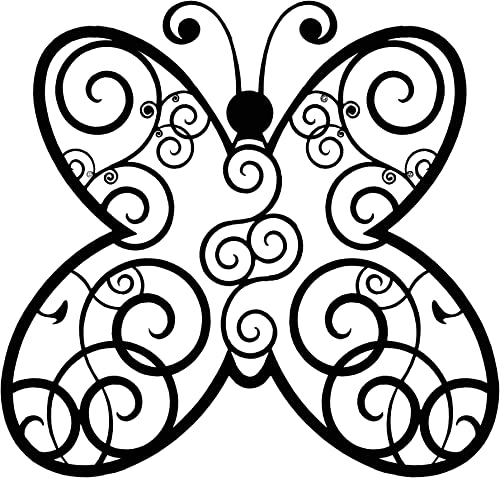 Metal Wall Art Butterfly Tribal Design Metal Art Wall Art Wall Decor Metal Decor Love Metal Poster Metal Wall Decor Unique Gift