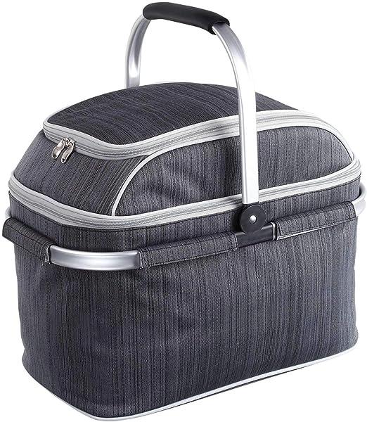 Aislado cesta de picnic con compartimento refrigerador y camping ...