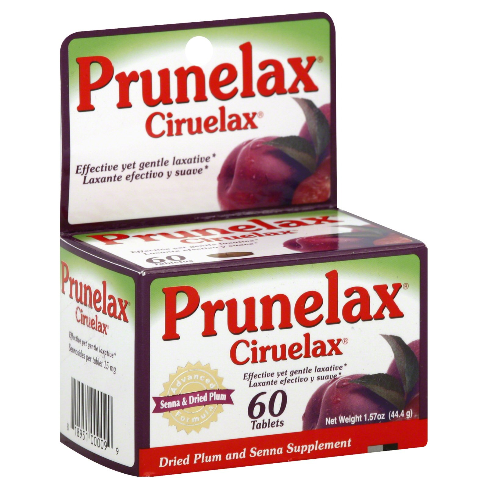 Amazon.com: Prunelax Ciruelax Laxative Tabs, 60 ea (Pack of 3): Health & Personal Care