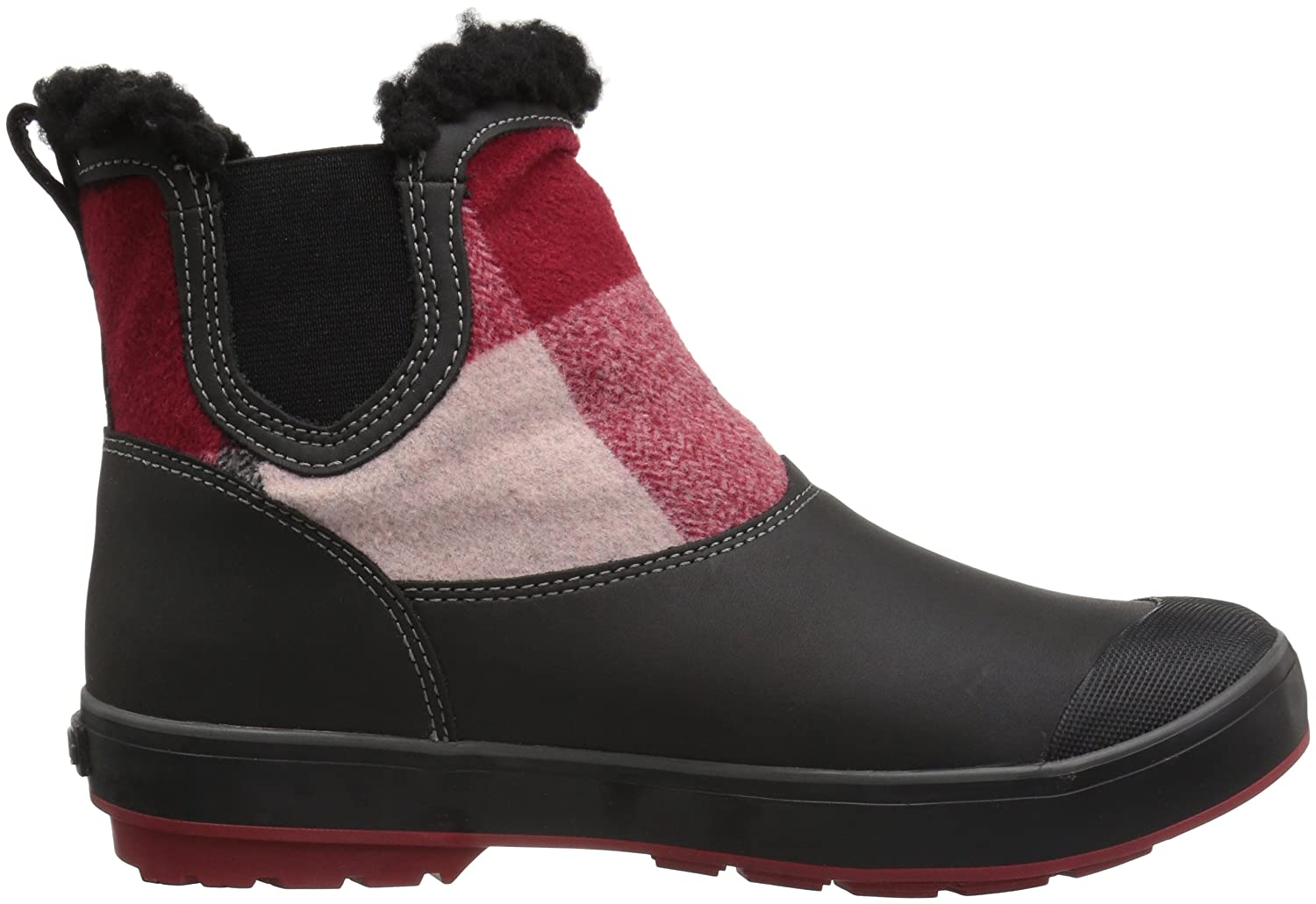 KEEN Women's Elsa Chelsea Waterproof Boot B01N53GSLX 9 B(M) US|Red Dahlia Wool