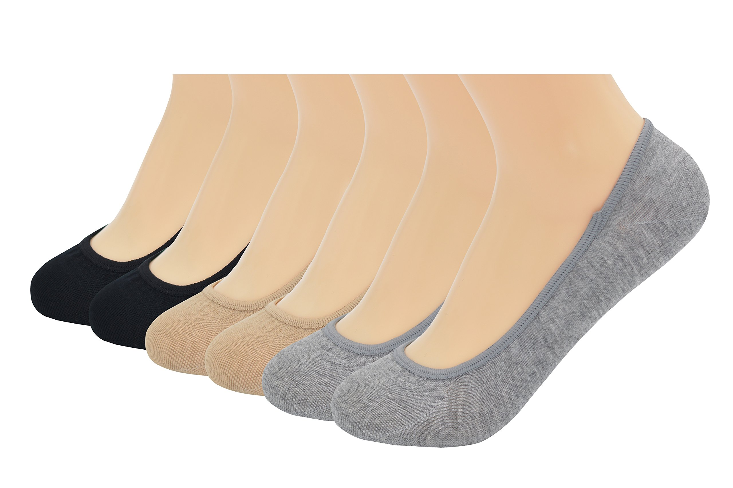 Women's Coolmax No-Show Liner, Low Cut Sport Socks, Coolax Casual Socks, by Keewen (6-Pack)