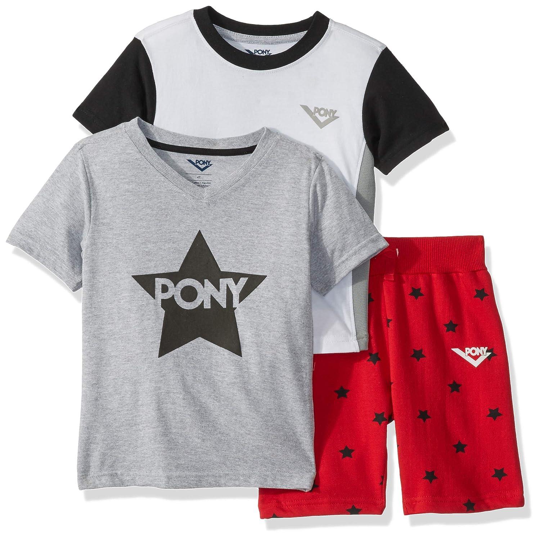 Pony Boys Toddler 3 Piece Active Short Set