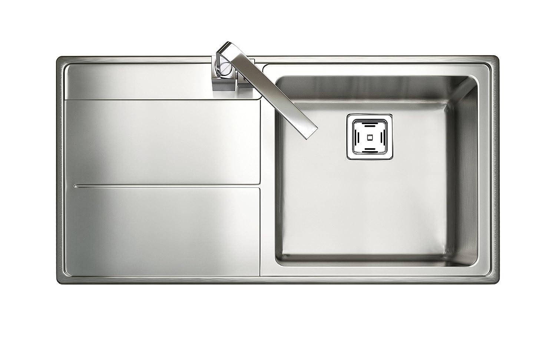 Rangemaster Michigan Countersunk –  Sink Sink, Rectangular, Stainless Steel, Stainless Steel, 1.5 Breasts, Rectangular) 1.5Breasts