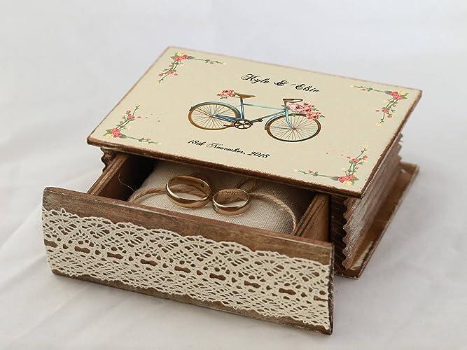 Amazoncom Ivory Ring Box Personalized Wedding Box Ring