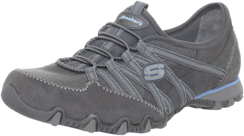 Skechers Bikers Verified - Zapatillas de material sintético mujer 35.5 EU|Grigio (Grau (Gylb)