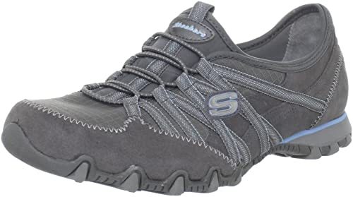 Zapatos grises casual Skechers Bikers para mujer Zae4nkd