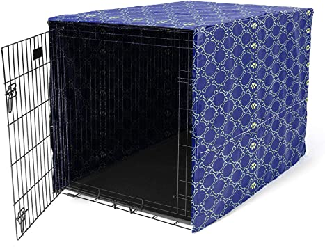 Easy to Put On Minjie Dog Crate Cover for Wire Crates L: 37 L x 24 Wx 25 H Take Off Pet Kennel Cover for Medium//Large Dogs and Adjust without Tools