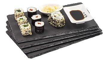 Sushi Geschirr Servierplatte Sushitablett Schieferplatte Schiefertablett Teller