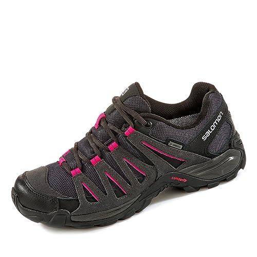 Salomon L38139900, Zapatillas de Senderismo para Mujer, Gris (Asphalt/Black/Hot Pink), 36 2/3 EU: Amazon.es: Zapatos y complementos