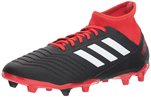 finest selection 05754 333b9 adidas Men s Predator 18.3 Firm Ground Soccer Shoes, Core Black Footwear  White Red