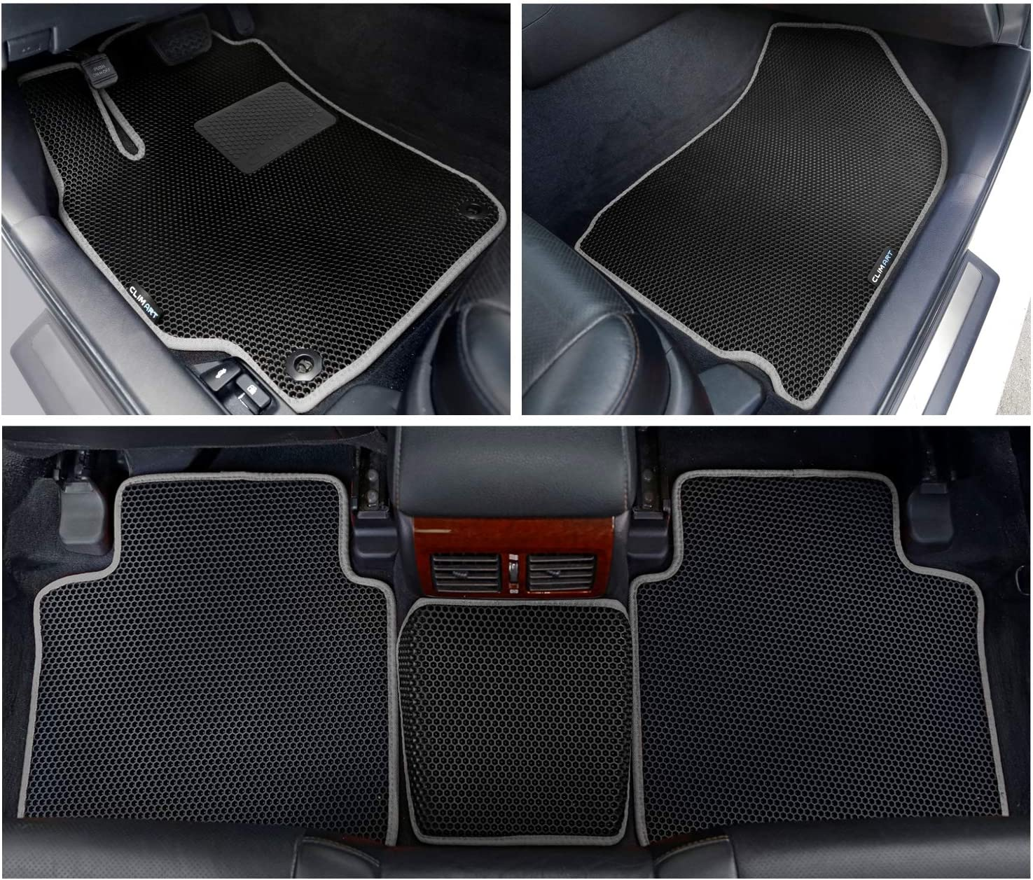Allweather CLIM ART Honeycomb Custom Fit Floor Mats for Toyota Camry 2015-2017 1st /& 2nd Row Car Accessories Tapetes para Autos Black//Black FL011311023 Car Floor Liner