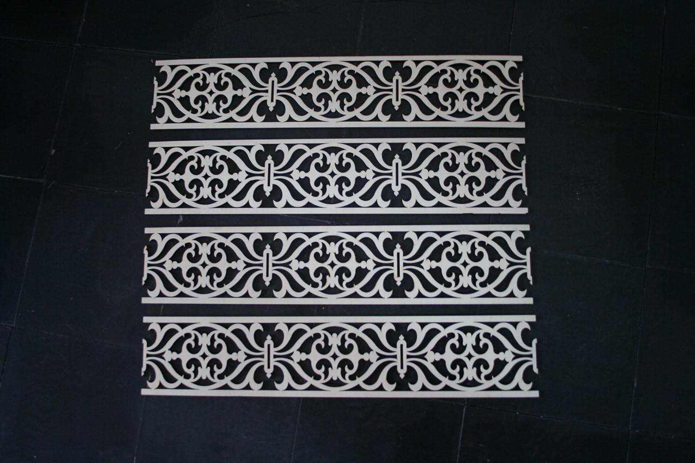 M 4x holzornament verzierung möbel applikation holz ornament bordüre