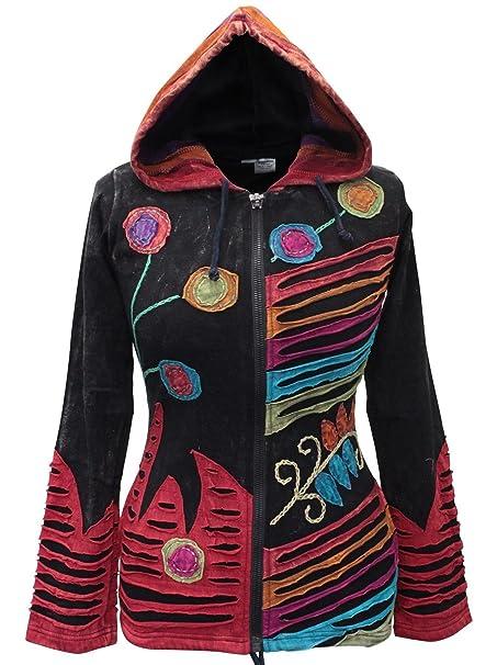 Shopoholic Grunge EMO gótico de Hippie para Mujer, diseño de Chaqueta con Capucha de algodón, diseño Retro: Amazon.es: Ropa y accesorios
