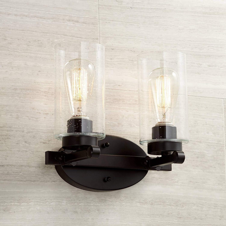Holman 10 3 4 High Industrial Bronze 2 Light Wall Sconce Amazon Com
