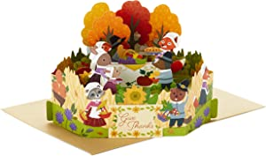 Hallmark Paper Wonder Thanksgiving Pop Up Card (Woodland Animal Pilgrims)
